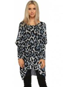 Grey Leopard Tunic Jumper £34.99