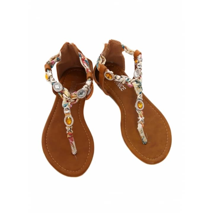 WIN A PAIR OF JEWELLED SATIN TOE POST SANDALS