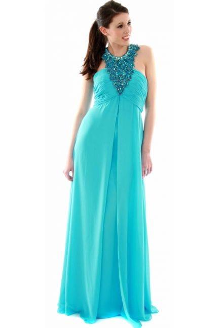 Women's Jovani Evening Dress - Chiffon Beaded Necklace 152305
