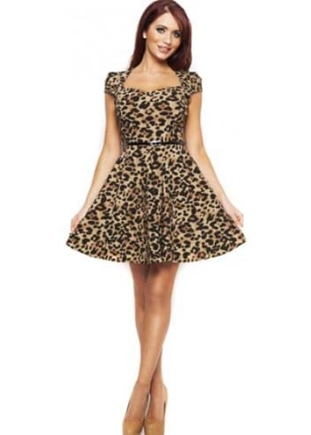 To add interest, the designer created a cute belt that hangs free from the belt loops at the bottom of the garment. You will look absolutely smashing in this high fashion leopard print vest! It is available for sale in sizes Small, Medium or Large.