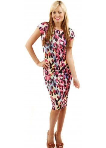 Pink Leopard Print Dress Cheap Leopard Print Pencil Dress