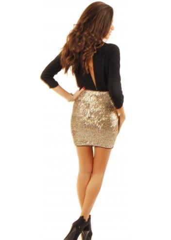 high waisted gold sequin mini skirt designer gold skirts