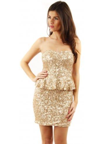 Gold Sequin Dress on Gold Sequin Peplum Dress   Peplum Dresses   Shop Party Dresses