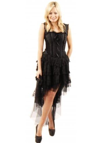burleska  ophelie black taffeta corset dress  bustier dress