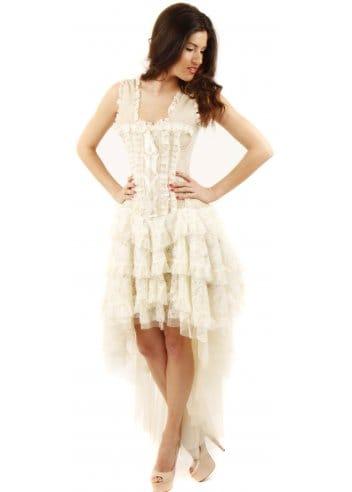 burleska  ophelie cream taffeta corset dress  bustier dress