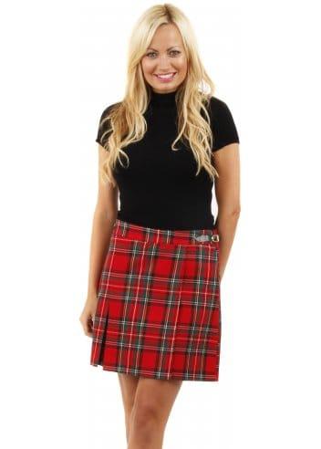 Red Tartan Skirt Tartan Kilt Tartan Mini Skirt