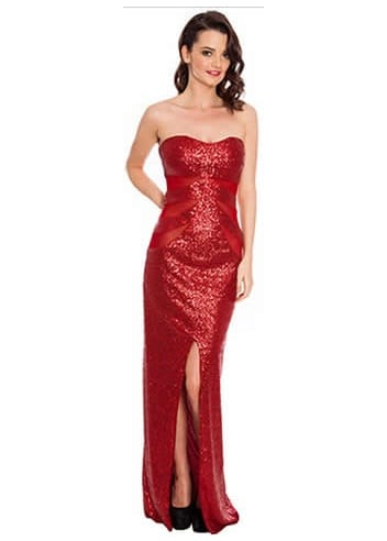 Red sequin dress maxi