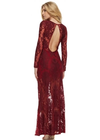 For Love Amp Lemons Ethereal Maxi Dress In Crimson For