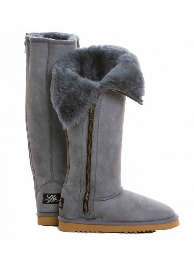 Love From Australia Boots Sheepskin Boots Extra Tall Zip
