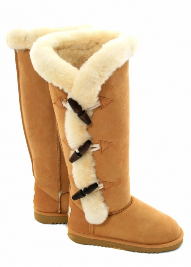 knee high ugg boots with fur. Black Bedroom Furniture Sets. Home Design Ideas