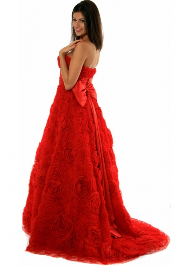 Sherri Hill Romantic Red Roses Ball Gown Style 2223