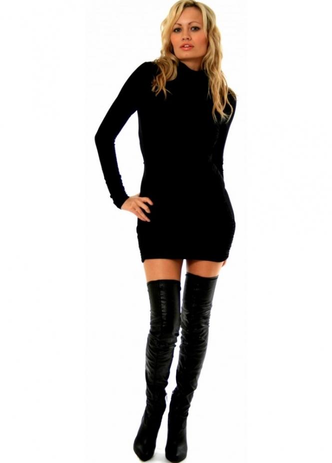 Pinko Boots - Thigh High Black