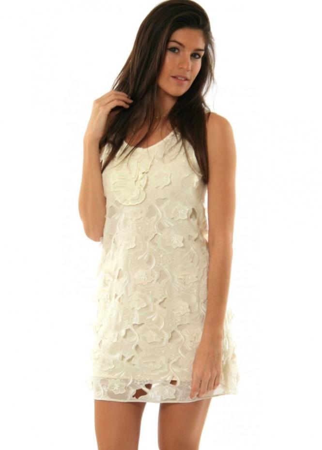 Jovonna Dress Silk Flower Shift