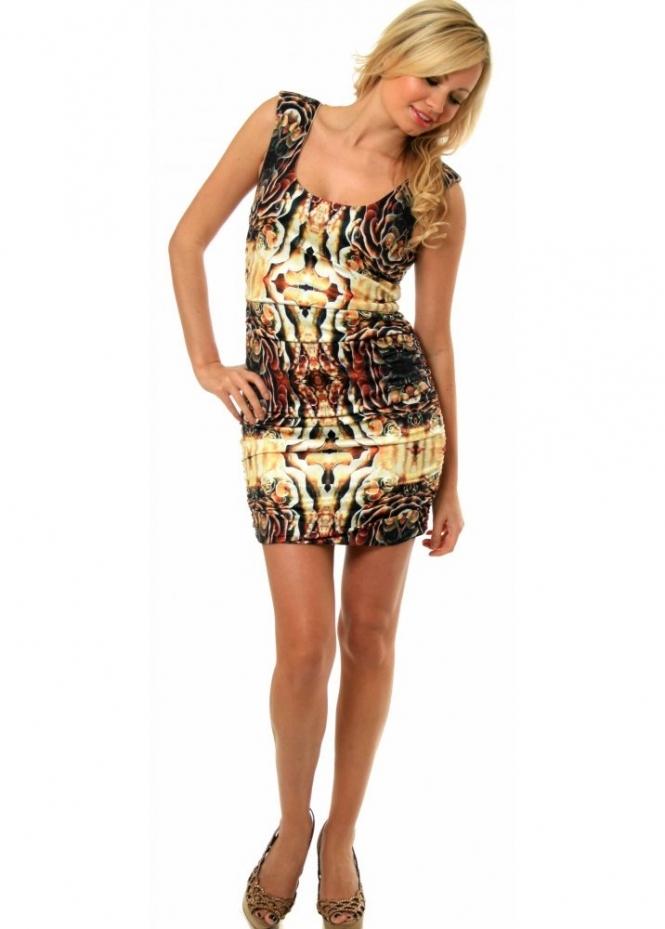 Supertrash Dress Domini Silky Multicolour Print