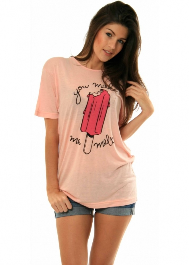 Delicious Couture Tops | Delicious Couture You Make Me Melt T Shirt | Delicious Couture T Shirts