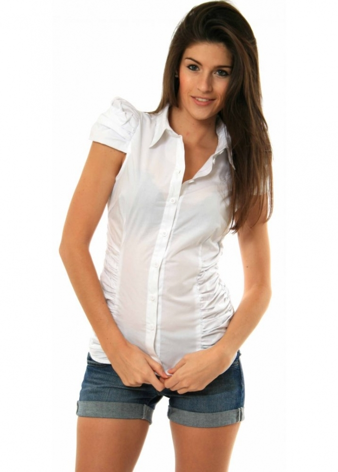 Supertrash bienne shirt supertrash blouse supertrash tops for Crisp white cotton shirt