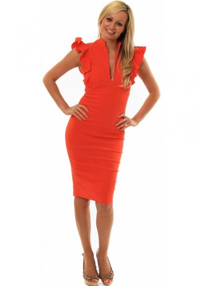 Hybrid Dress | Shop Hybrid Dresses | Hybrid Frill Sleeve Pencil Dress