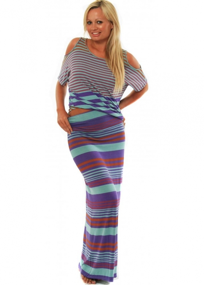 A Postcard From Brighton Skirt Liddy Striped Maxi