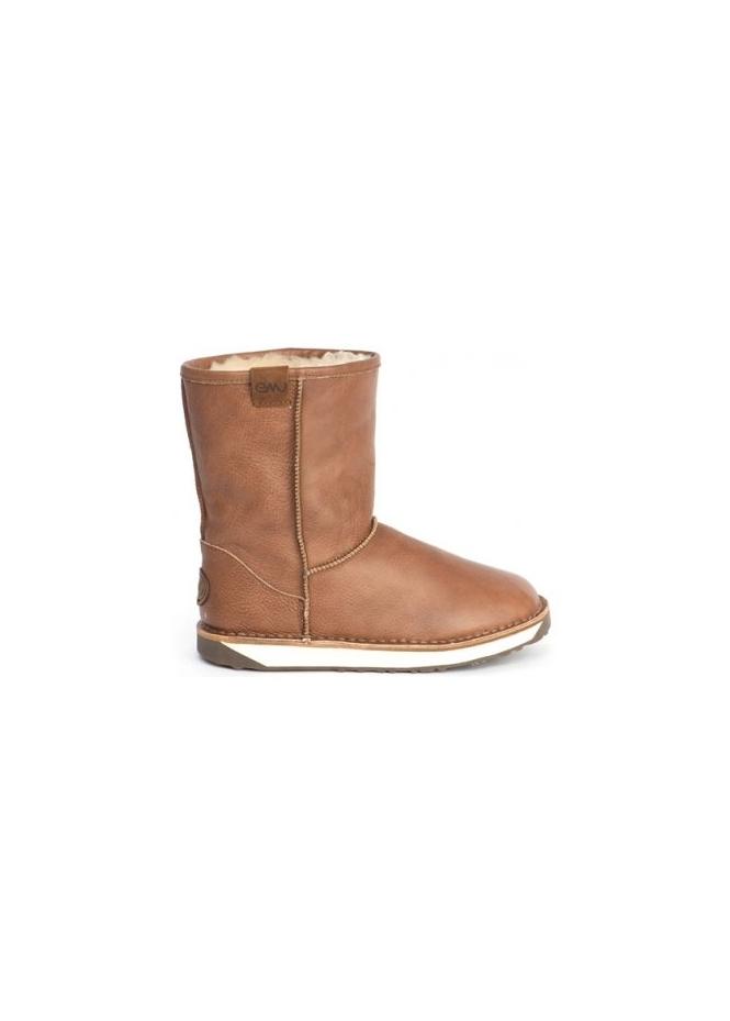 emu hobart vintage brown leather ankle boot uk 3 4 5 6 ebay
