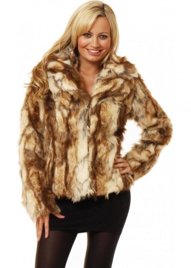 Koo-Ture Jacket Faux Fur Mont Blanc Short Coat As Seen On Ola Jordan