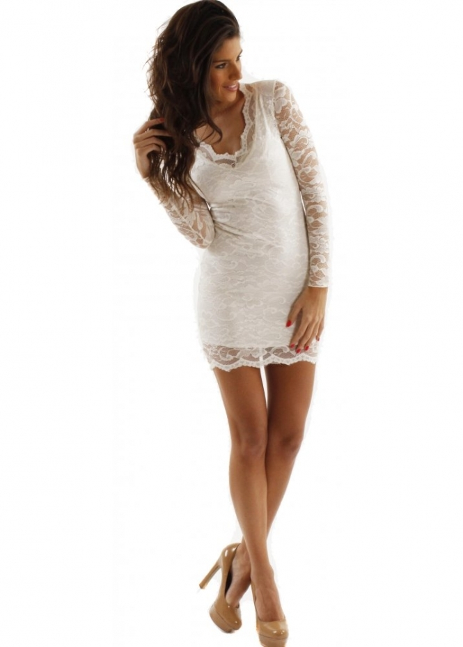 designer cream lace dress cream lace designer mini dress