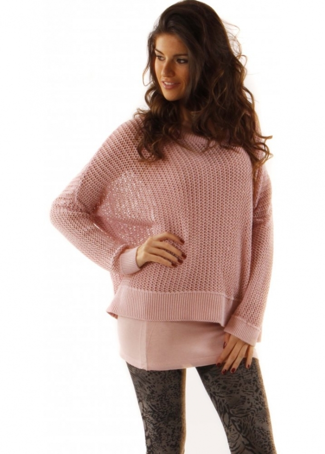 Jumper Pama Rama Chunky Knit Rose Quartz Jumper