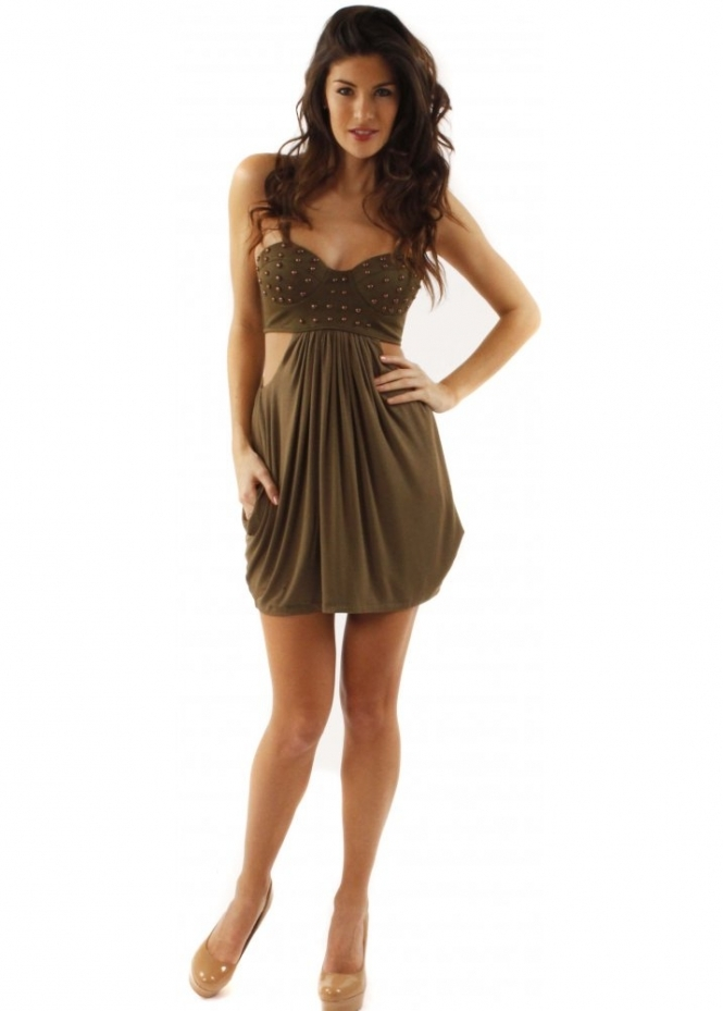 House Of Dereon Dresses | House Of Dereon Studded Bustier Dress | Shop House Of Dereon ...