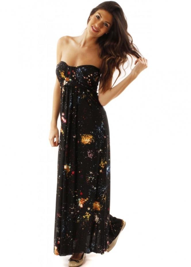 Ax Paris Galaxy Print Maxi Dress Buy Ax Paris Maxi Dresses