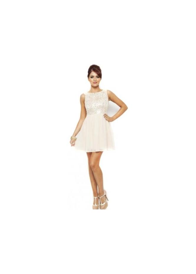 Dresses & Skirts Women's Amy Childs Annalyse Dress Sequins & Chiffon Baby Doll Dress