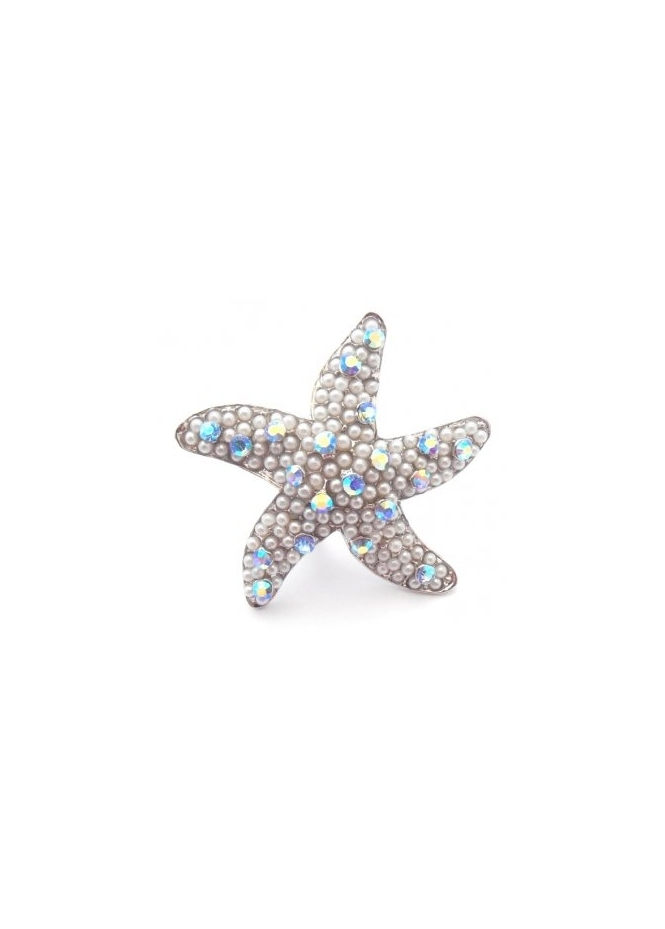 Dainty Damsel Starfish Ring Limited Edition Sapphire Czech Crystals Finger Or Toe Ring
