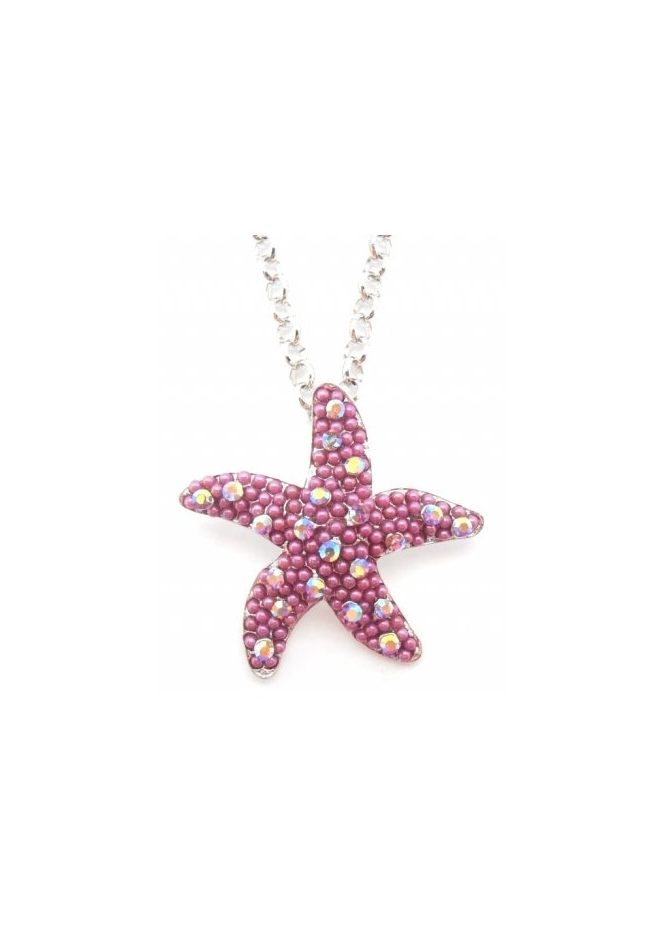 Dainty Damsel Starfish Necklace Limited Edition Amethyst Czech Crystals