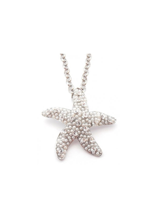 Dainty Damsel Starfish Necklace Limited Edition Silver Czech Crystals