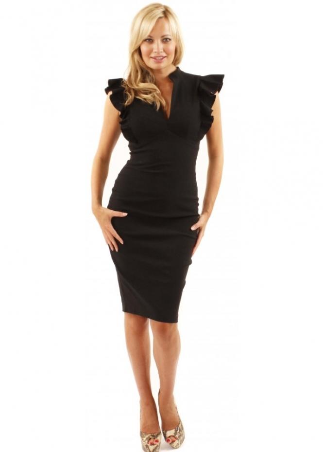 Hybrid Black Frill Dress Shop Hybrid Dresses Hybrid