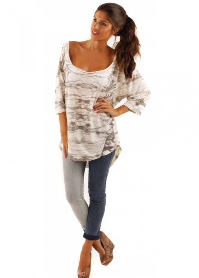 Twisted Muse Lola Top Twisted Muse Digital Print Top