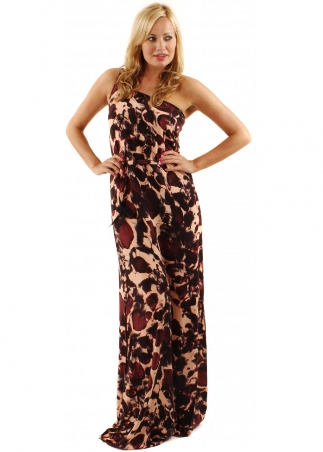 One Teaspoon Shiver & Shake Printed Jersey Maxi Dress