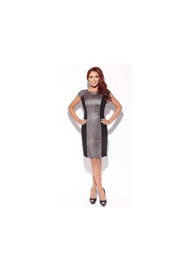 Amy Childs Lottie Dress With Grey Moc Croc Panel