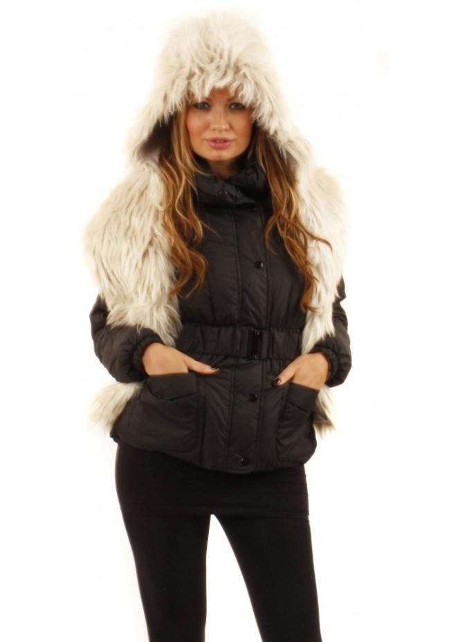 Urbancode Polar Bear Faux Fur Scarf With Hood