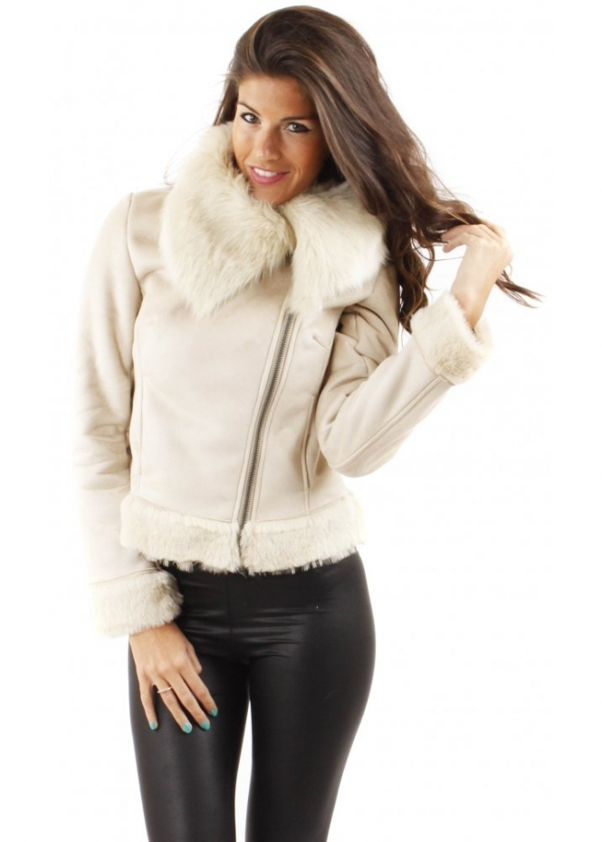 Urbancode | Urbancode Faux Fur Cropped Jacket | Faux Fur Jackets