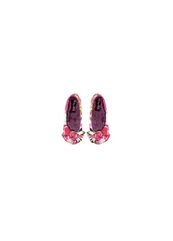 Ruby & Ed Oriental Satin Bow Ballerina Slipper