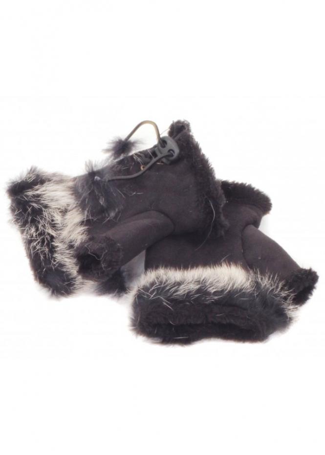 Designer Fur Gloves Fingerless Gloves Faux Fur Gloves