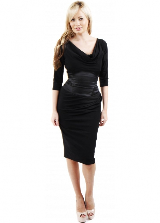 The Pretty Dress Company | Black Embassy Dress With ...