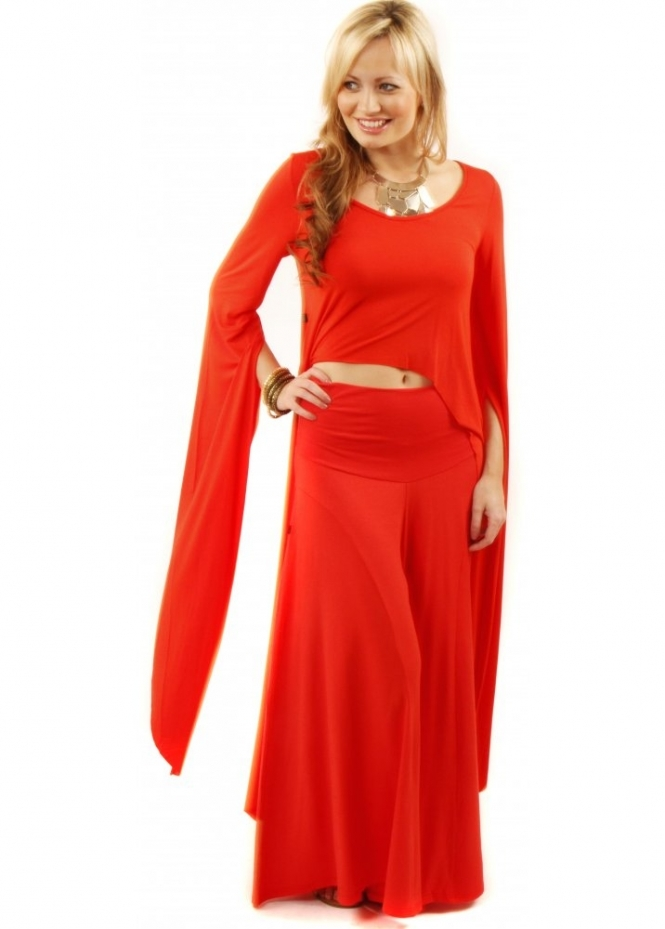 Join Clothes Join Palazzo Pants Red Palazzo Trousers