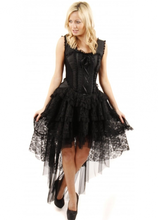 Lace Bustier Dress is rated out of 5 by Rated 5 out The orange color is very pretty and its lace seems to cover up more but the black fit better for night time, you can see more of your skin in the black lace. Looking forwards to wearing it with open toe booties and a coat. Date published: /5(24).