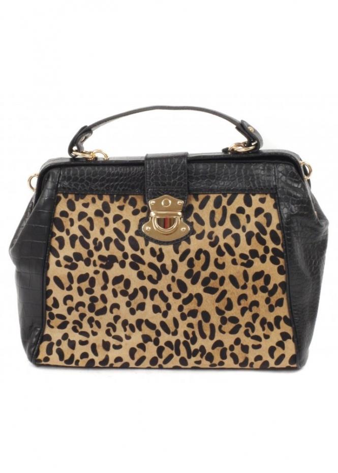 DSUK Black Leopard Print Doctors Tote Bag