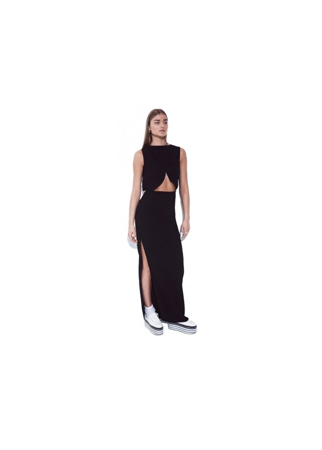 Bill+Mar Black Cut Away Maxi Dress