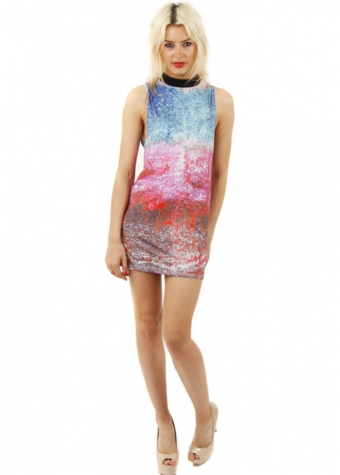 Bill+Mar Electric Marble Mini Dress