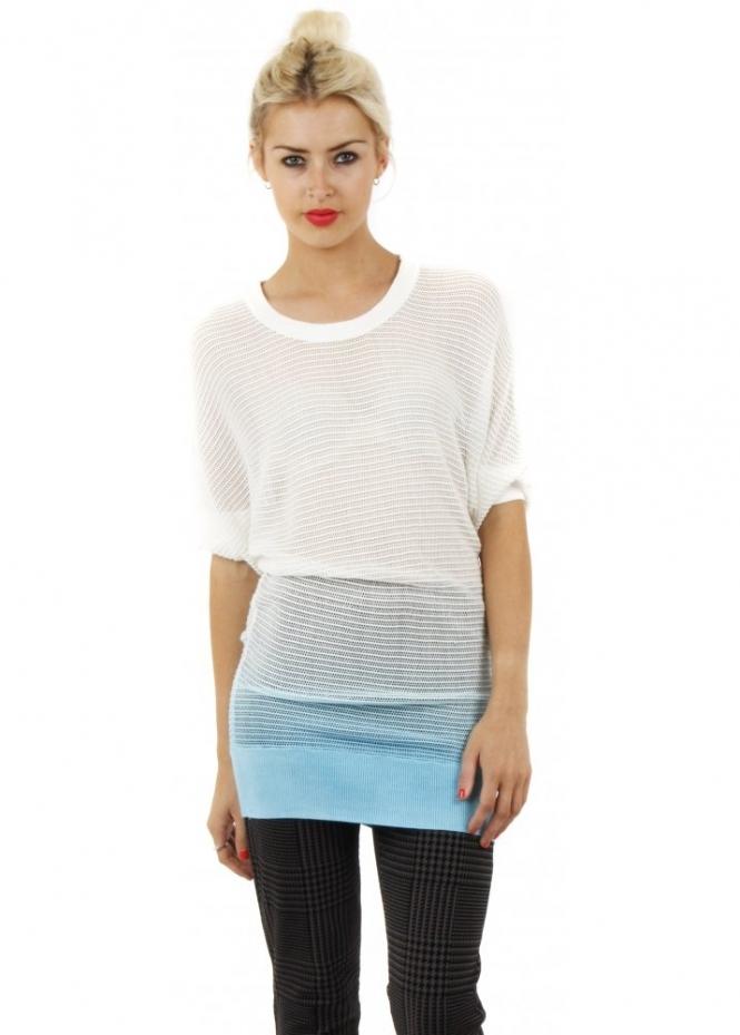 Stella Morgan Light Blue Ombre Print Knitted Jumper