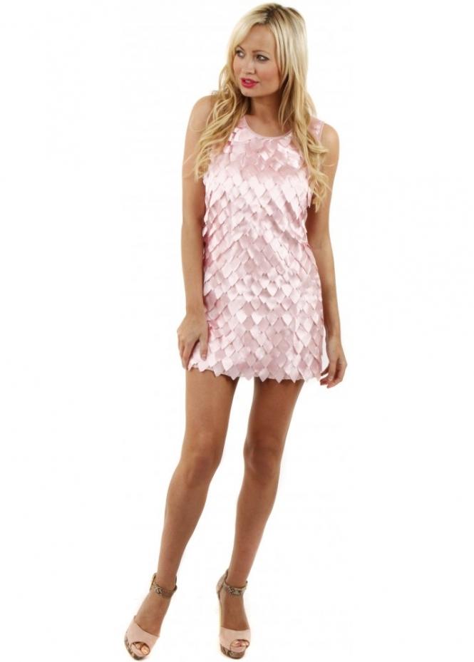 pink mini dress pink petals party dress pretty mini dress