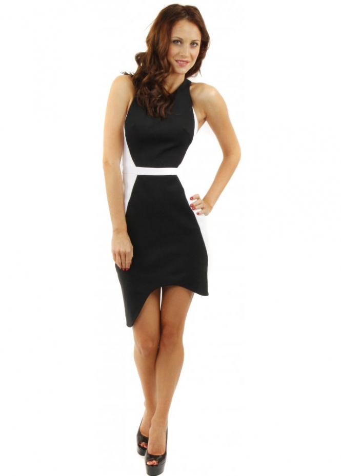 Finders Keepers Great Expectations Black & Ivory Sleeveless Dress