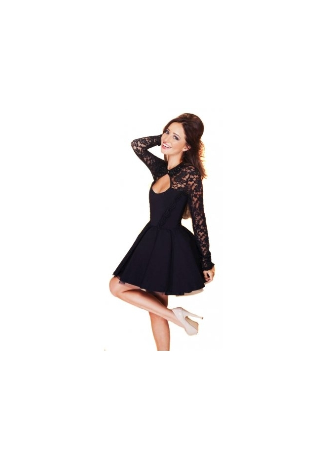 Tempest Daydream Black Lace Prom Dress